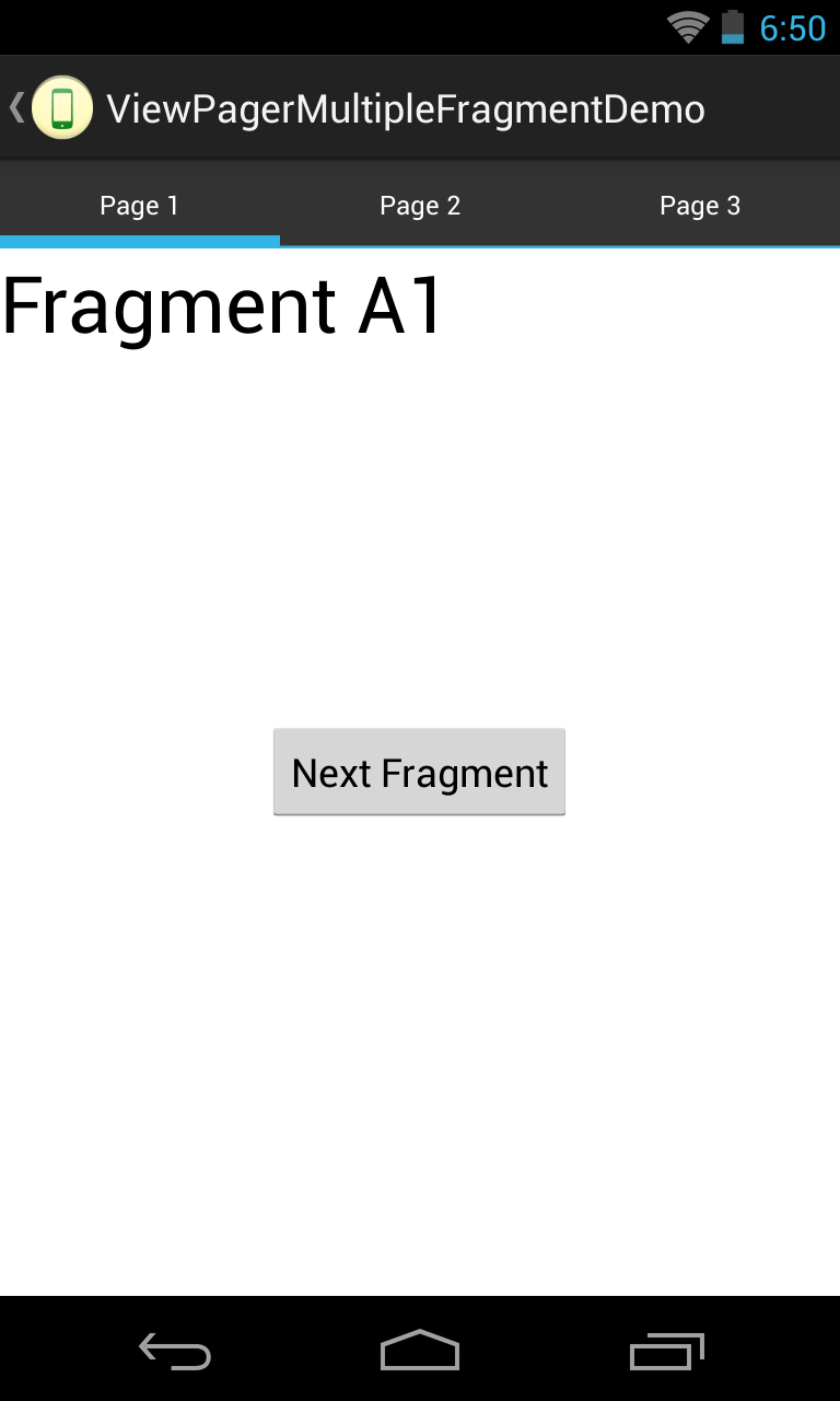 Android: Multiple Fragments stack in each ViewPager Tab